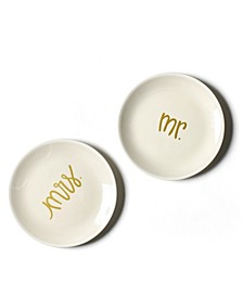 by Laura Johnson Mr. and Mrs.  Dessert Plates  Set/2