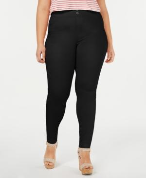 Image of Hue Plus Size Original Smooth Denim Leggings, Created for Macy's