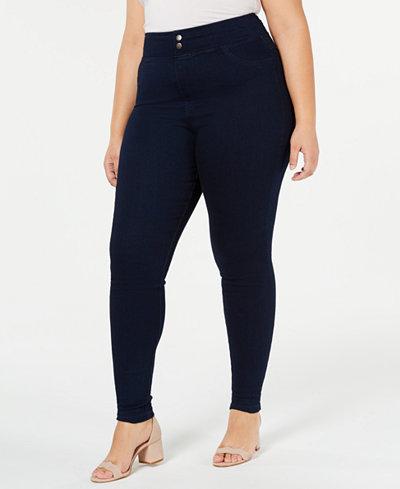 HUE® Plus Size Original Smooth Denim Leggings, Created for Macy's