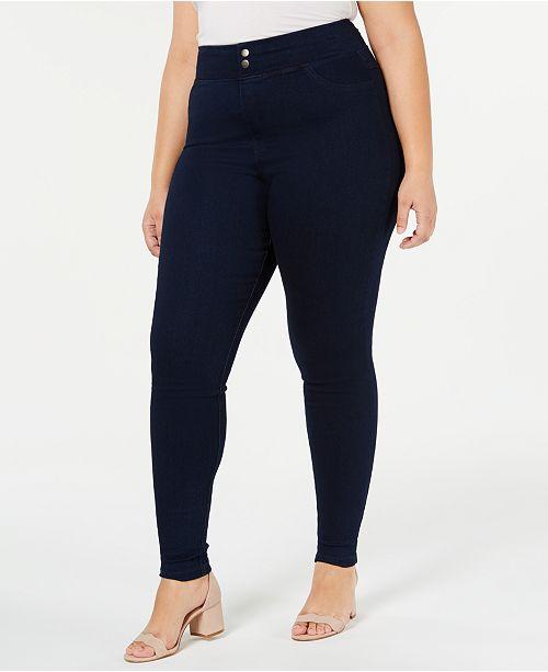 8e642cf7bd9b1 ... Hue Plus Size Original Smooth Denim Leggings, Created for Macy's ...