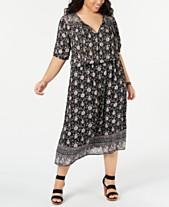 26f5b491543 Lucky Brand Plus Size Printed Blouson Dress