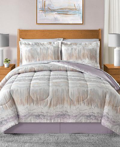 Marbelize Reversible 8-Pc. Comforter Sets
