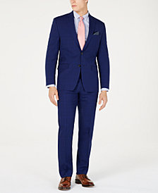 Lauren Ralph Lauren Men's Classic-Fit UltraFlex  Stretch Navy Plaid Suit Separates