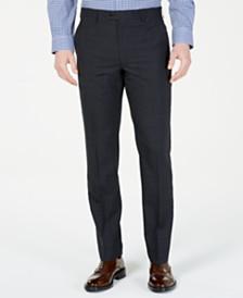 Lauren Ralph Lauren Men's Classic-Fit UltraFlex  Stretch Charcoal Windowpane Suit Pants