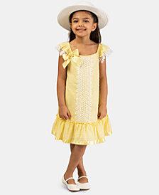 Bonnie Jean Little Girls 2-Pc. Clip-Dot Dress & Hat Set