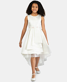 Bonnie Jean Toddler Girls Metallic Jacquard High-Low Hem Dress