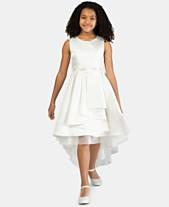Bonnie Jean Little Girls Metallic Jacquard High-Low Hem Dress 69064d42c252