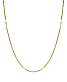 "Box Link 18"" Chain Necklace (0.5mm) in 18k Gold"