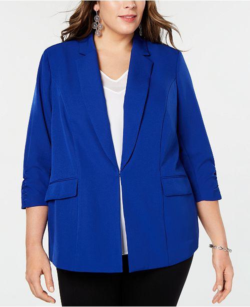 INC International Concepts I.N.C. Plus Size 3/4-Sleeve Blazer, Created for Macy's