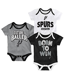Outerstuff San Antonio Spurs 3 Piece Bodysuit Set, Infants (0-9 Months)