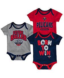 Outerstuff New Orleans Pelicans 3 Piece Bodysuit Set, Infants (0-9 Months)