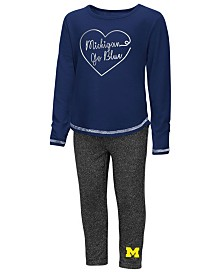 Colosseum Michigan Wolverines Legging Set, Toddler Girls (2T-4T)