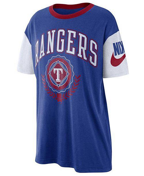 Nike Women's Texas Rangers Retro Boycut T-Shirt