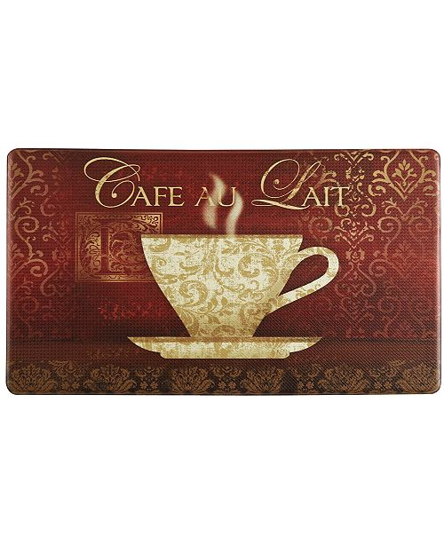 Home Dynamix Cook N Comfort Cafe Au Lait Embossed Cushioned Anti Fatigue Kitchen Mat Reviews Home Macy S