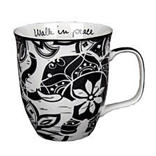 Boho Black and White Mug