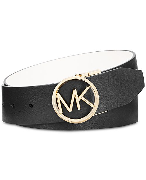 82840e499 Michael Kors Reversible MK Logo Buckle Belt & Reviews - Handbags ...
