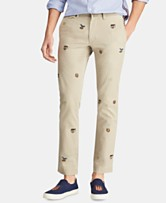 dfeada831ff Polo Ralph Lauren Men s Stretch Slim-Fit Embroidered Chino Pants