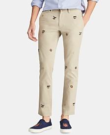 Polo Ralph Lauren Men's Stretch Slim-Fit Embroidered Chino Pants