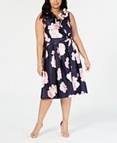 Jessica Howard Plus Size Ruffled Fit   Flare Midi Dress a2c03583a480