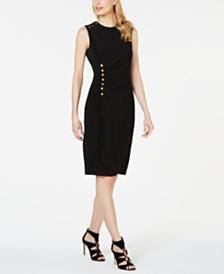 Calvin Klein Button-Trim Sheath Dress