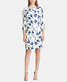 Lauren Ralph Lauren Lace-Trim Floral-Print Dress