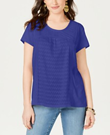 Style & Co Petite Scoop Neck Top, Created for Macy's