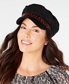 I.N.C. Cotton Tortoise-Look Chain Newsboy Cap, Created for Macy's