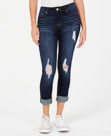 Juniors' Cuffed Cropped Skinny Jeans