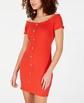 4e812c532e47 Rosie Harlow Juniors  Off-The-Shoulder Ribbed Dress