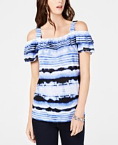 86037e5beef28 (2). more like this · I.N.C. Tie-Dyed Cold-Shoulder Top