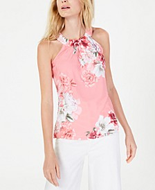 INC Printed Twisted Halter Top, Created for Macy's