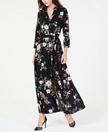 I.N.C. Printed Maxi Shirtdress, Created for Macy's