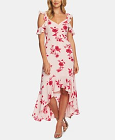 CeCe Cold-Shoulder Maxi Dress