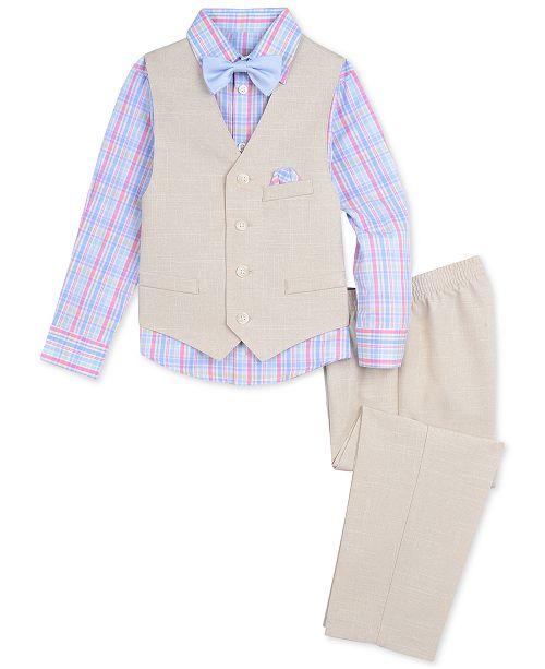 7625a5503 Nautica Baby Boys 4-Pc. Shirt, Vest, Pants & Bowtie Set & Reviews ...