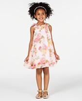 8cae547b5b630 Blueberi Boulevard Toddler Girls Floral-Print Shift Dress
