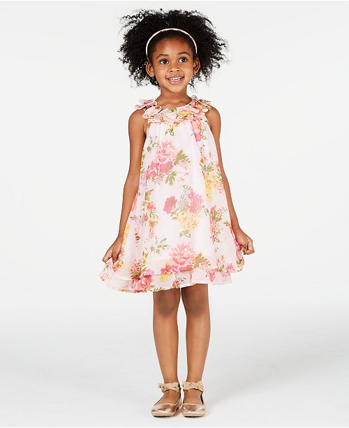 240fa82ec Blueberi Boulevard Toddler Girls Floral-Print Shift Dress   Reviews ...