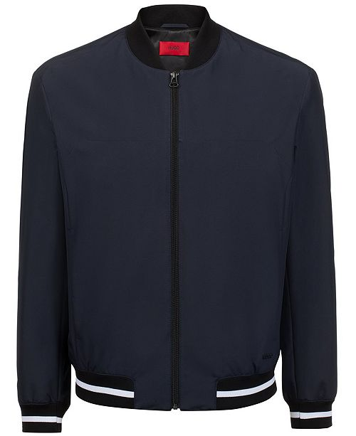 amp; Jackets Jacket Men Bestino1921 Boss Macy's Reviews Slim-fit - Hugo Bomber Coats Men's