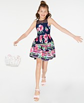 dd9d5e5d393 Rare Editions Big Girls Striped Floral-Print Dress