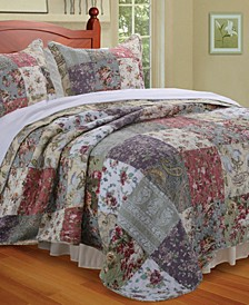 Blooming Prairie Quilt Set, 3-Piece Full - Queen