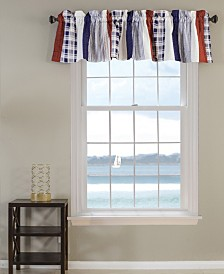 Nautical Stripe Window Valance, Quilted