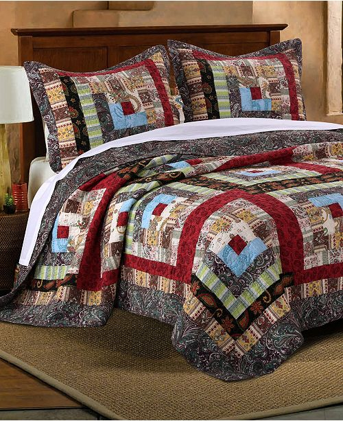 Greenland Home Fashions Colorado Lodge Quilt Set, 3-Piece Full - Queen