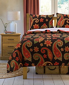 Midnight Paisley Quilt Set, 2-Piece Twin