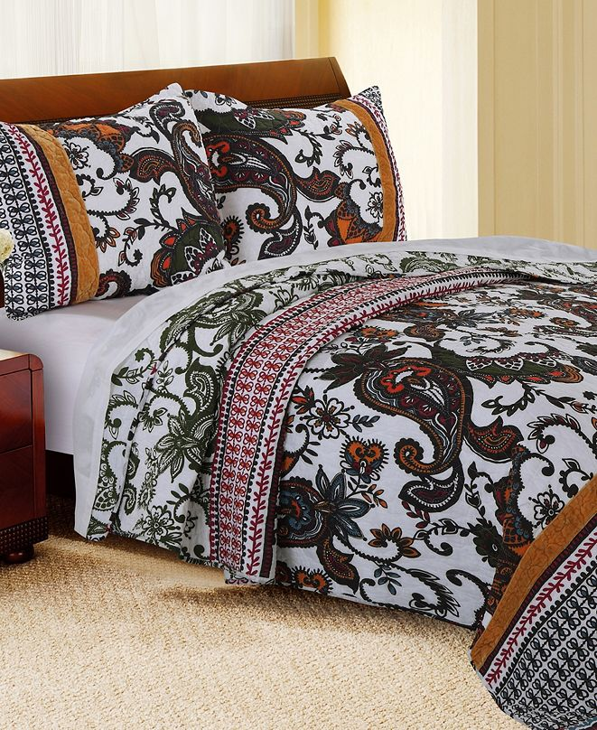 Greenland Home Fashions Orleans Quilt Set, 2-Piece Twin