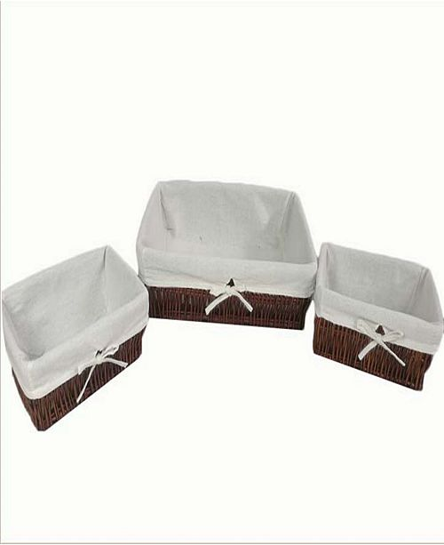 Baum Set of 3 Storage Baskets with Thick Poly Cotton Liners