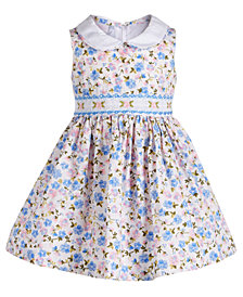 Bonnie Baby Baby Girls Ditsy Floral-Print Dress, Created for Macy's