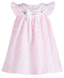 Bonnie Baby Baby Girls Embroidered Eyelet Dress, Created for Macy's