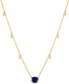 "Sapphire (1-1/2 ct.t.w.) & Diamond Accent 16-1/2"" Pendant Necklace in 14k Gold"