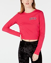 eeaa96a864871d Juicy Couture Cotton Logo-Print Cropped T-Shirt