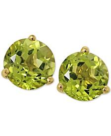 Gemstone Stud Earrings in 14k Yellow Gold