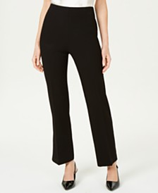 JM Collection Petite Slit-Leg Crepe Pants, Created for Macy's